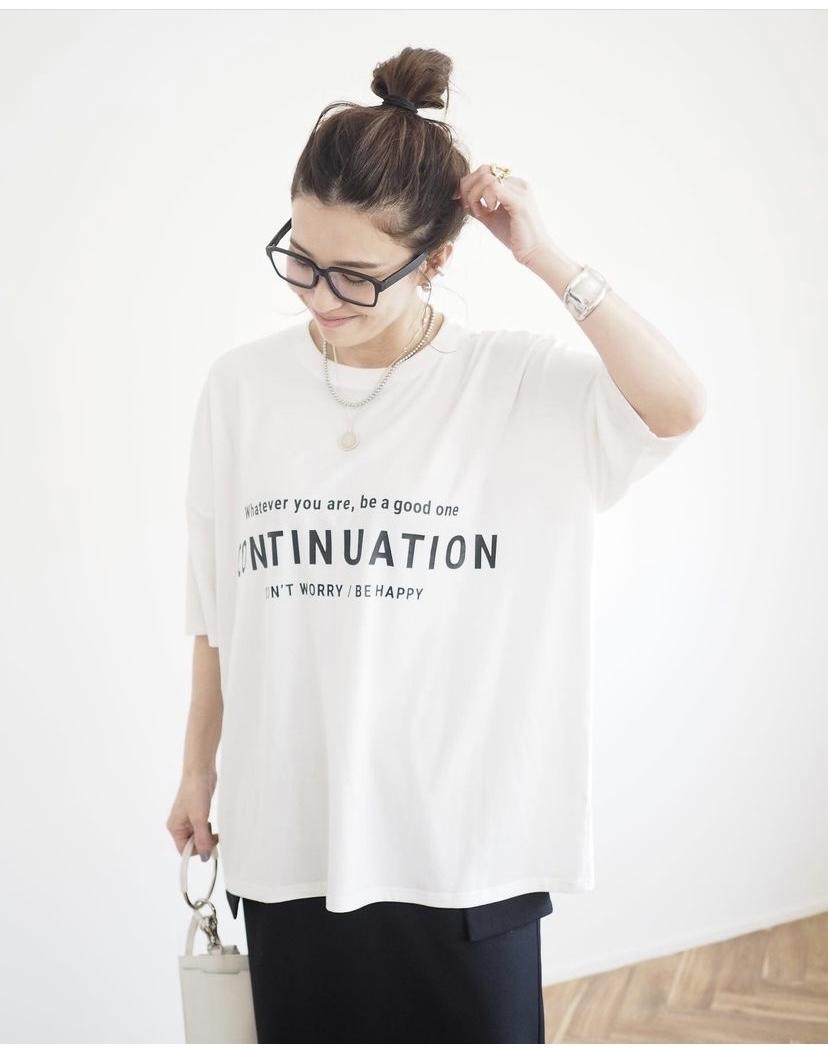 ANIECA  ロゴプリントTシャツ_a0246319_20533474.jpg