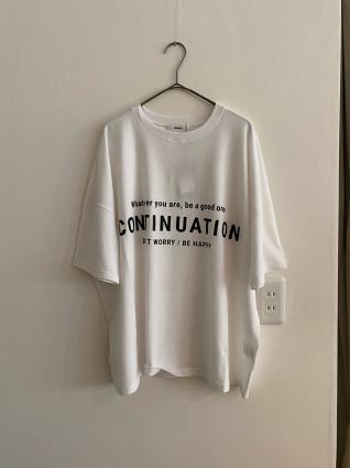ANIECA  ロゴプリントTシャツ_a0246319_20574902.jpg