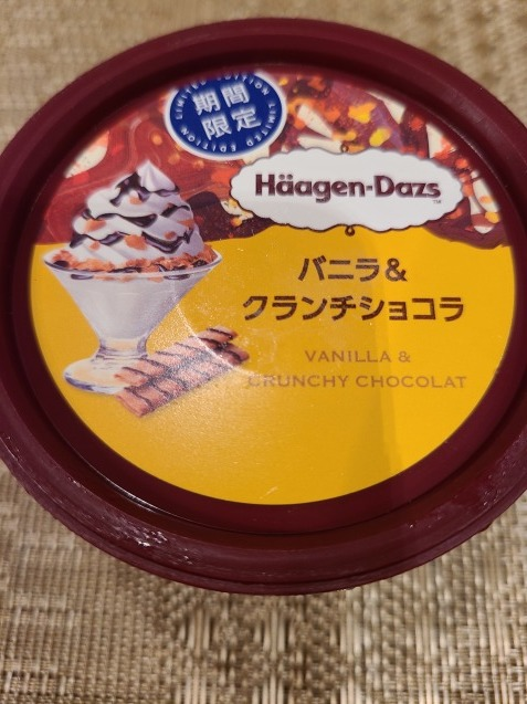 アイスクリーム大好き❤️ハーゲンダッツ 「バニラ&クランチショコラ」_c0124528_22052787.jpg