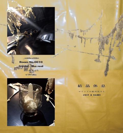 underline exhibition RooM No.0010 結晶休息_f0138928_14301532.jpg