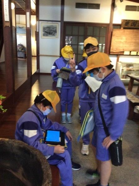 山中小学校:5~6年生(65人)「芭蕉の館」訪問_f0289632_18034796.jpg