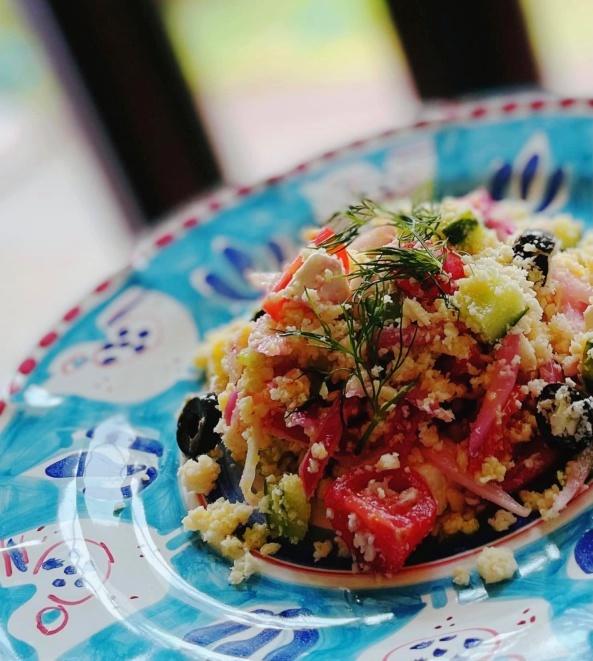 アレンジネタが続きます。。ギリシャ風サラダをさらにダイエットレシピに。_d0041729_13354374.jpg