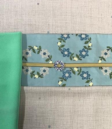 杉村・マジョルカ 桔梗円文袋帯・前太鼓2パターン。_f0181251_18081176.jpg