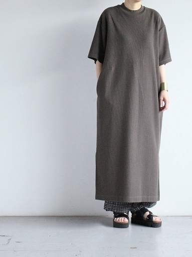 blurhms ROOTSTOCK Rough&Smooth Thermal Dress S/S_b0139281_15320706.jpg