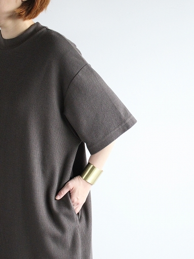 blurhms ROOTSTOCK Rough&Smooth Thermal Dress S/S_b0139281_15393685.jpg