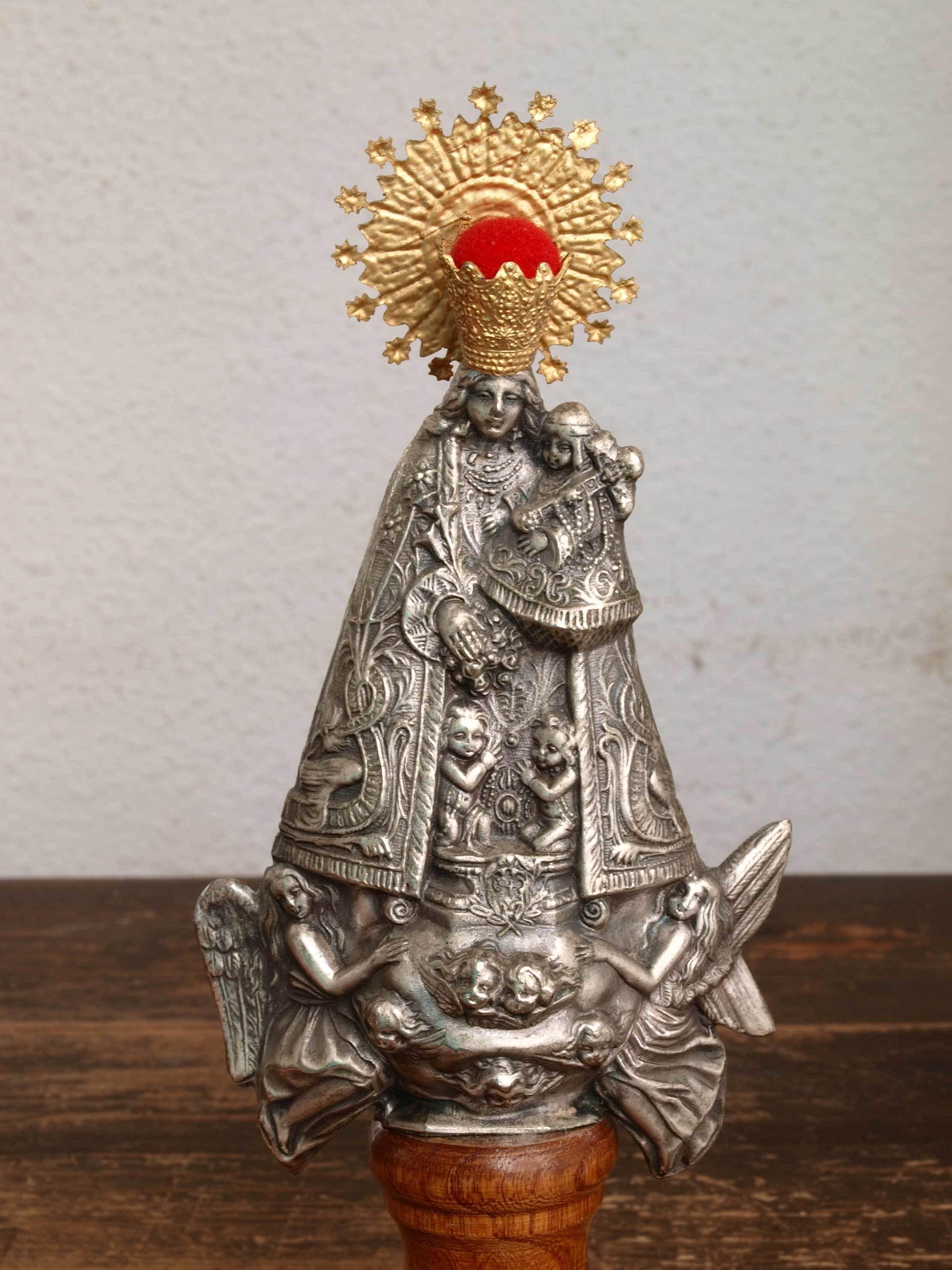 無力の聖母 マリアと幼子  23.5cm  /H379_e0324838_01263547.jpg