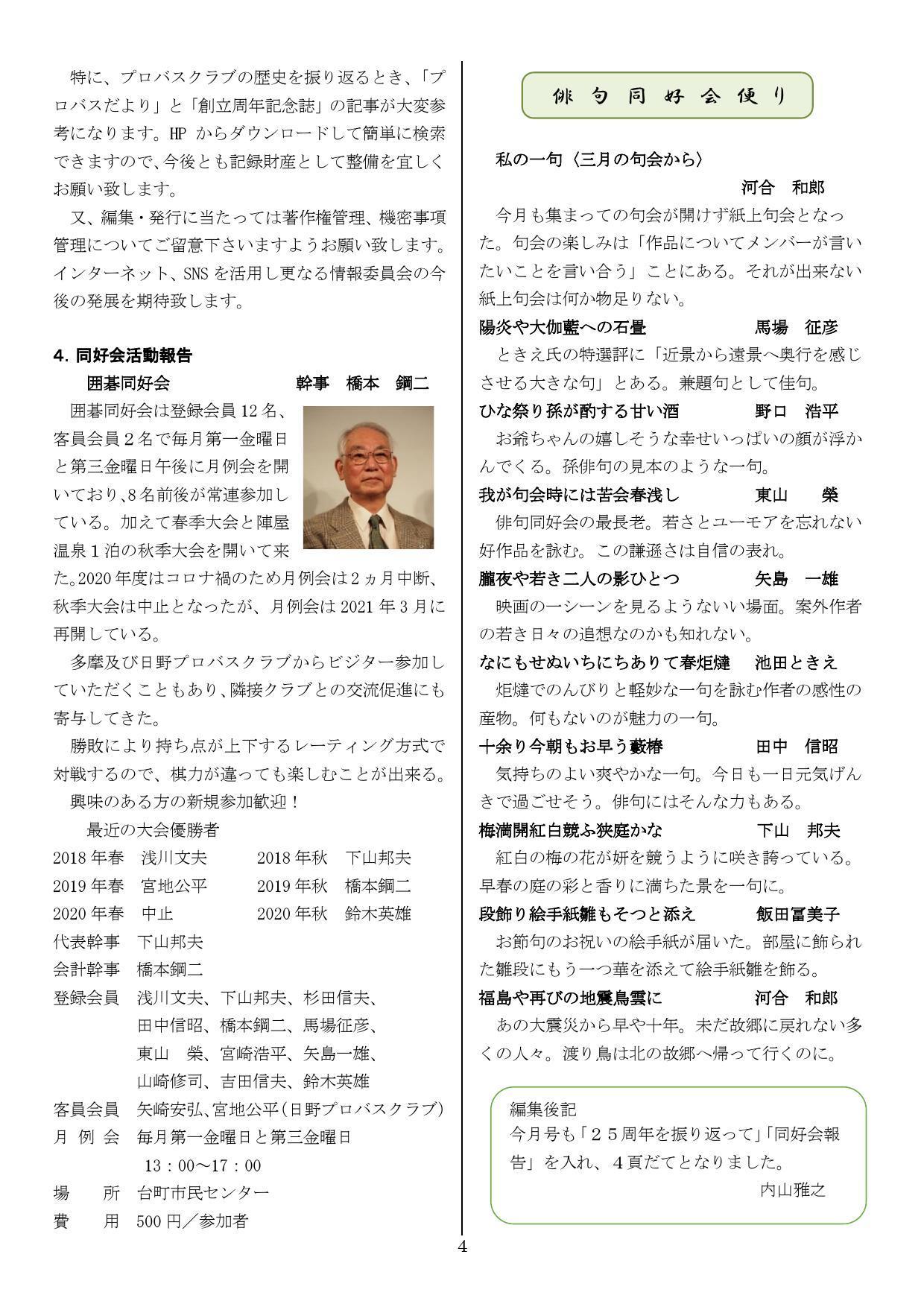 東京八王子プロバスクラブ プロバスだより第305号 2021年4月8日 _b0000714_15505964.jpg