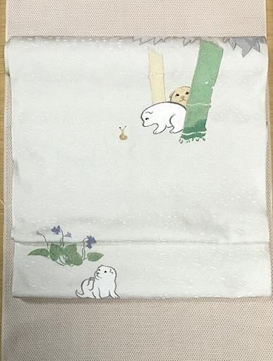 本塩沢に雪佳・狗児名古屋帯・袷、単衣コーディネイト。_f0181251_16264871.jpg