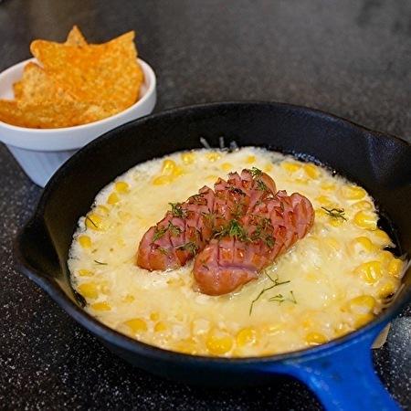 韓国のマッコリ屋さん風に、チーズケランマリとマヨコーンチーズ_a0223786_17011615.jpg