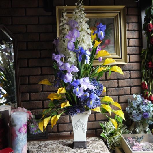 百貨店・北の花籠母の日フラワーフェア・明日搬入_a0123133_23292062.jpg