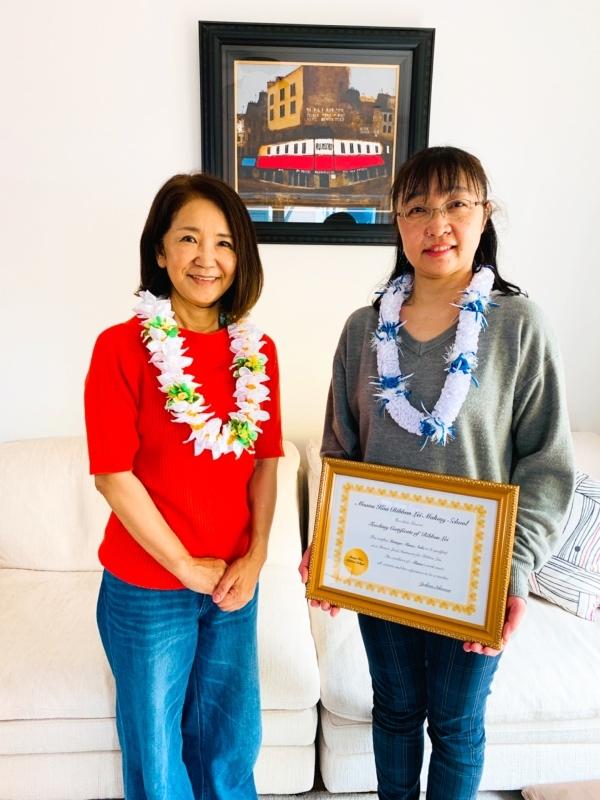 Yokoさんがサティフィケートを 取得されました!_c0196240_12445558.jpeg