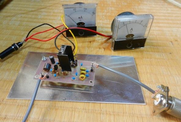 10.136MHz FT8送信機用2N3904ー2SC2314リニアアンプ基板の調整と実働試験_f0205744_16263966.jpg