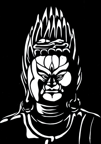 青面金剛立像(しょうめんこんごうりつぞう) 奈良・東大寺_a0115549_21353218.jpg