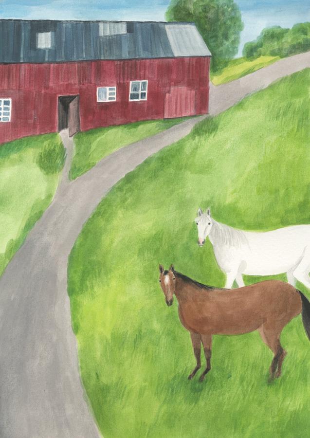 今日の絵「牧場の朝」_a0138978_17563876.jpg