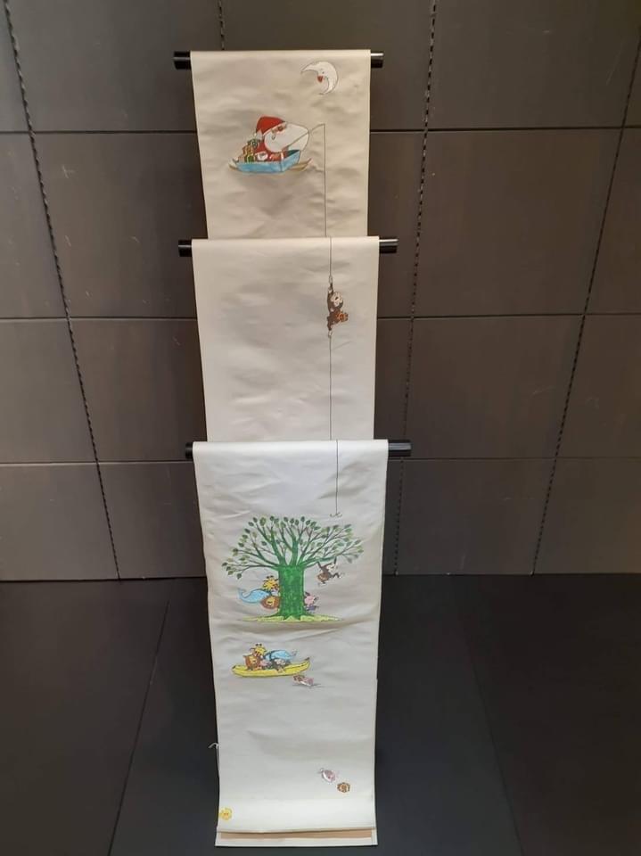 三井寺で開催中の谷口智則展・100にんのサンタクロース_f0181251_18403878.jpg