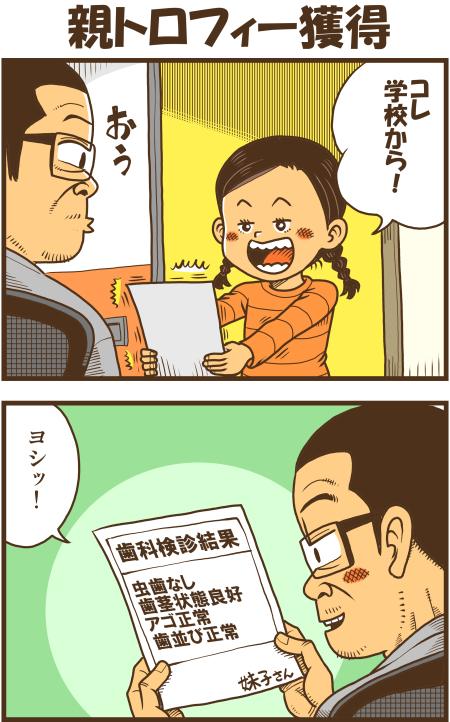 親トロフィー獲得 - 戯画漫録