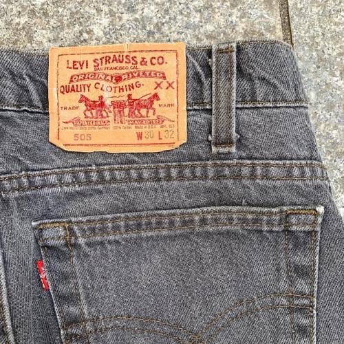 Late 80's~ USmade Levi's  505 Black Jeans _a0182112_12110922.jpg