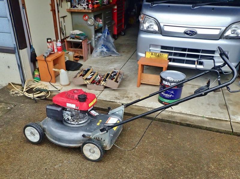 連休中には「芝刈り機の整備」を行いました_c0336902_20351695.jpg