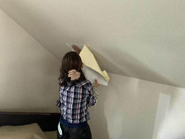 雨漏り天窓修理とクロス修理_f0031037_18421314.jpg
