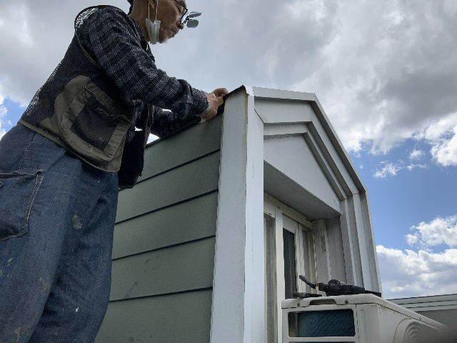 雨漏り天窓修理とクロス修理_f0031037_19120626.jpg