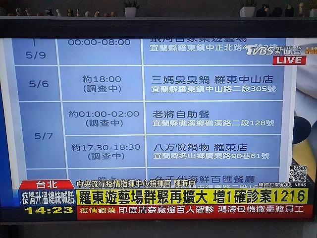 【5月12日の記者会見より】台湾国内で16名が感染。感染源不明の感染者が増加。警戒レベル2へ&台中の水不足もさらに深刻 - メイフェの幸せ&美味しいいっぱい~in 台湾