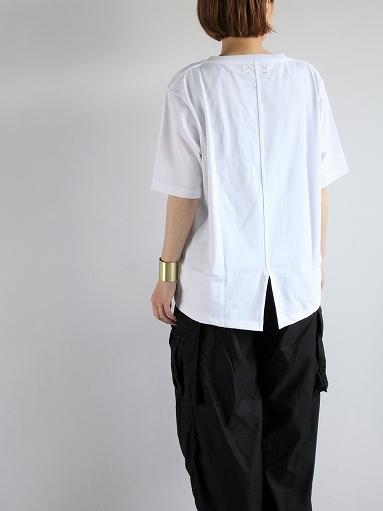 unfil organic cotton back slit tee_b0139281_18550838.jpg