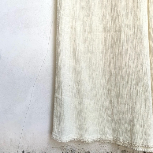80's Retro Hand made in CYPRUS BALKAN Natural Wrinkle Cotton Design Lace Ethnic Dress _a0182112_12274640.jpg