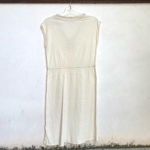 80's Retro Hand made in CYPRUS BALKAN Natural Wrinkle Cotton Design Lace Ethnic Dress _a0182112_12274771.jpg