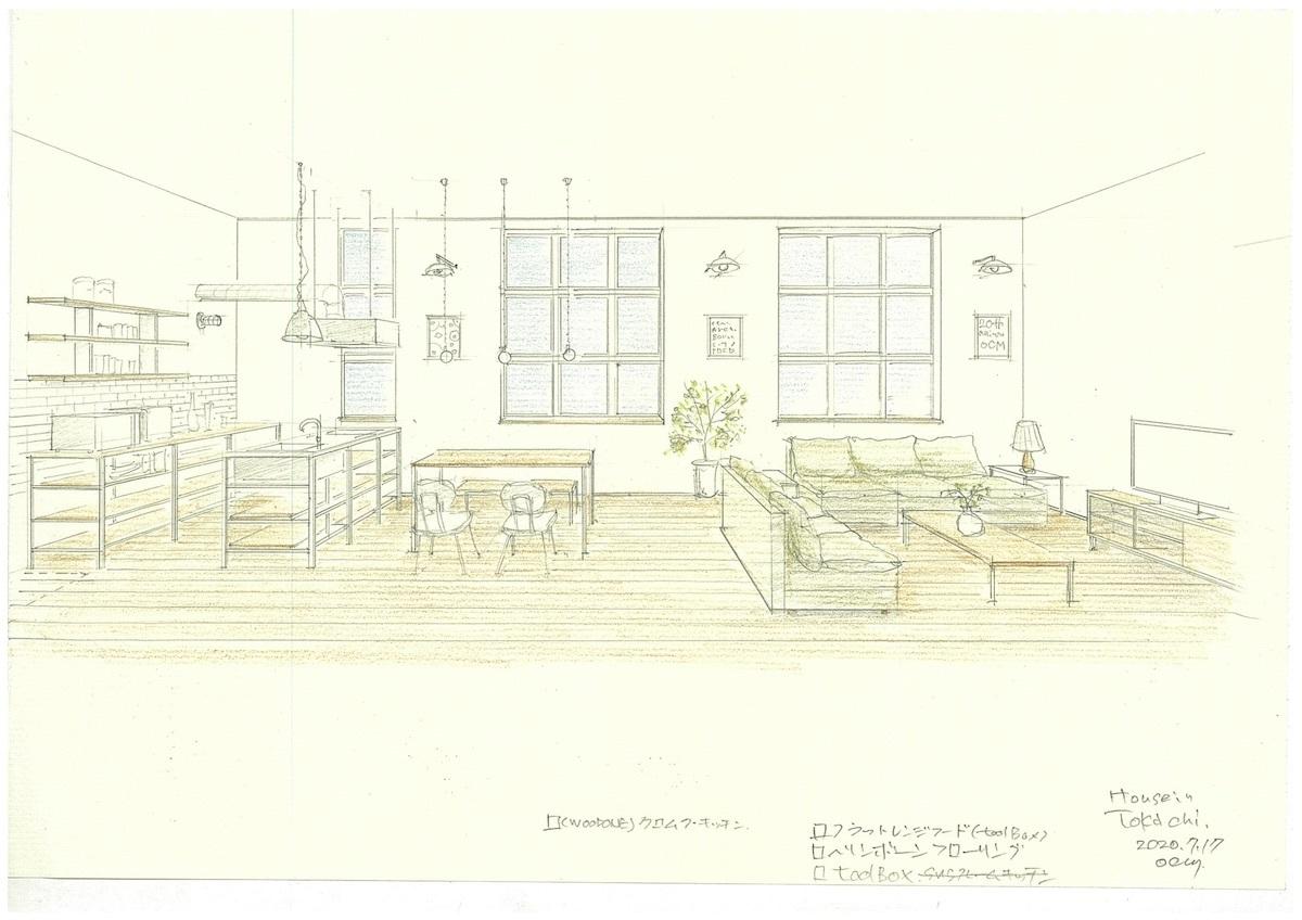 「十勝の家」模型&スケッチ_f0230666_14102235.jpg