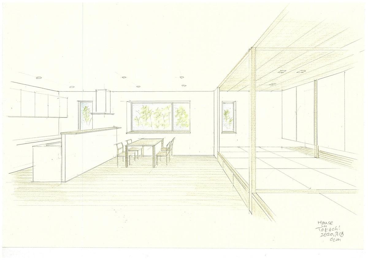 「十勝の家」模型&スケッチ_f0230666_14102319.jpg