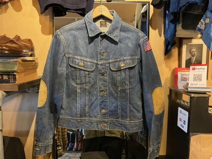 ~70's Lee 101-J denim jacket (hand painted)_e0343648_23470022.jpeg