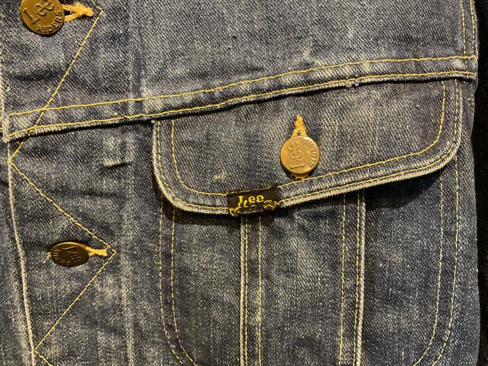 ~70's Lee 101-J denim jacket (hand painted)_e0343648_23554522.jpeg