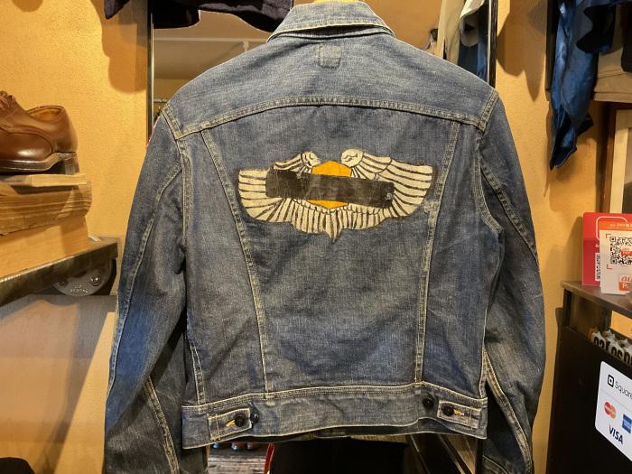 ~70's Lee 101-J denim jacket (hand painted)_e0343648_23572014.jpeg