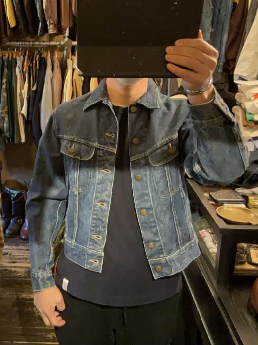~70's Lee 101-J denim jacket (hand painted)_e0343648_00055297.jpg