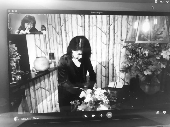 斎藤由美先生のオンラインレッスン〜新緑のブーケ_b0208604_23584449.jpeg
