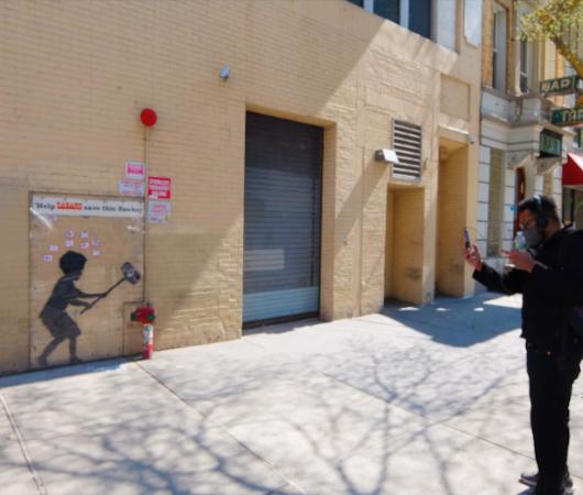 NYの街角アート、バンクシーさんの「ハンマー・ボーイ」壁画はココで見れます_b0007805_20383491.jpg