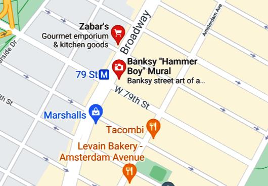 NYの街角アート、バンクシーさんの「ハンマー・ボーイ」壁画はココで見れます_b0007805_20514368.jpg