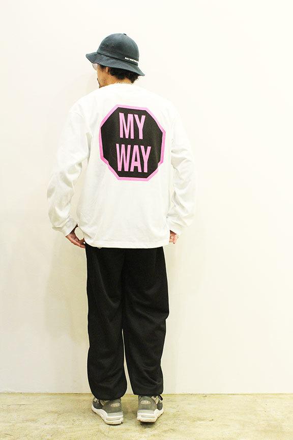 "ONEWAY (ワンウェイ) \"" Sign LOGO L/S TEE \""_b0122806_13270918.jpg"