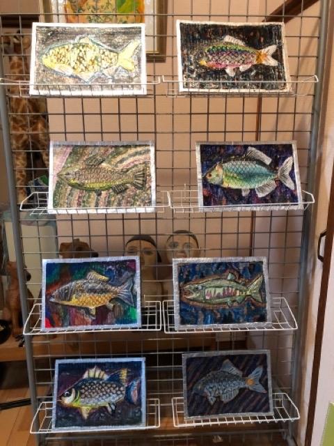 稲沢教室、アルミの魚を展示しています。_f0373324_19452020.jpg