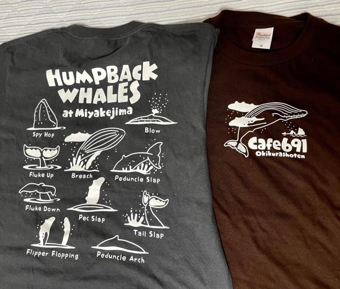 「カフェから見えるザトウクジラ」Tシャツ_f0292806_17301459.jpg