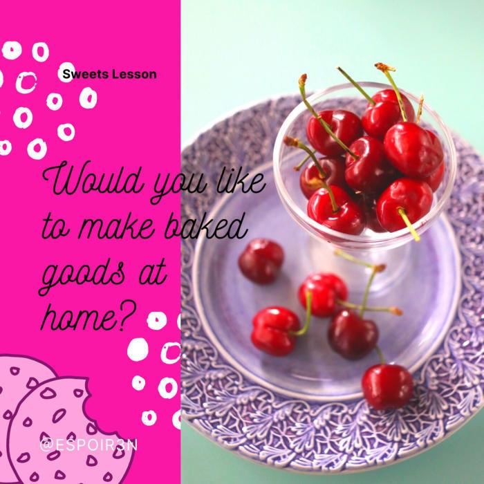 6月の気軽にお菓子レッスンはガトーバスク。季節のフルーツで試作中。_c0162653_14540953.jpg