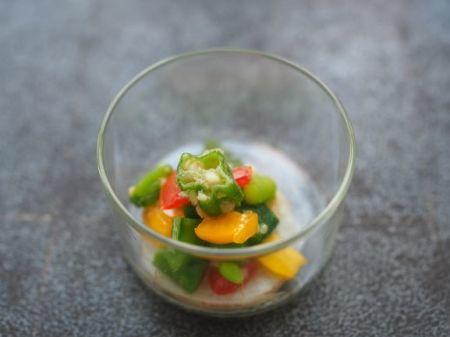 夏野菜の生姜風味和え_e0148373_23162920.jpg