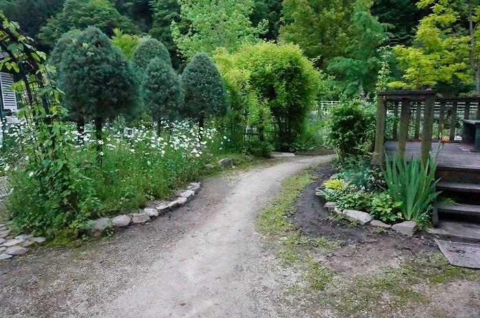 小道を広げて、庭に車が入るように_e0365880_21195918.jpg