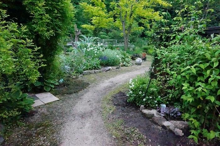 小道を広げて、庭に車が入るように_e0365880_21211001.jpg