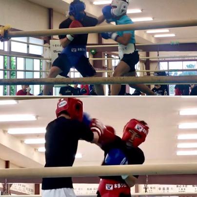 習志野高校ボクシング部へ出稽古_a0134296_14243812.jpg