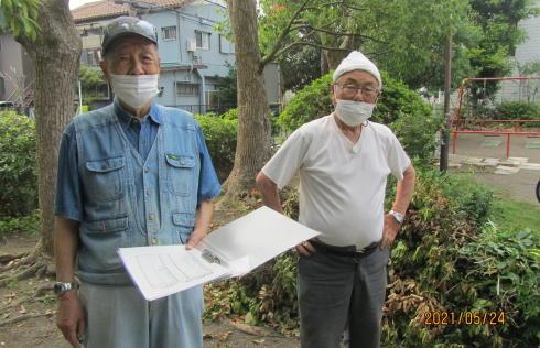 地元老人会によるボランティア公園清掃_c0220597_19384179.jpg