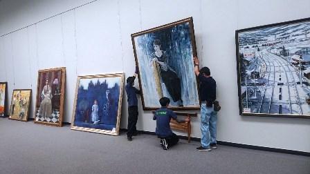 作業日誌(「第107回光風会 名古屋展」作品搬入展示作業)_c0251346_16072431.jpg