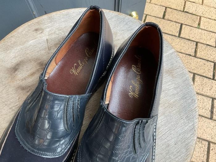 """N.O.S. 50's """"Waukege Casuals"""" two-tone rockabilly shoes_e0343648_17153480.jpeg"""