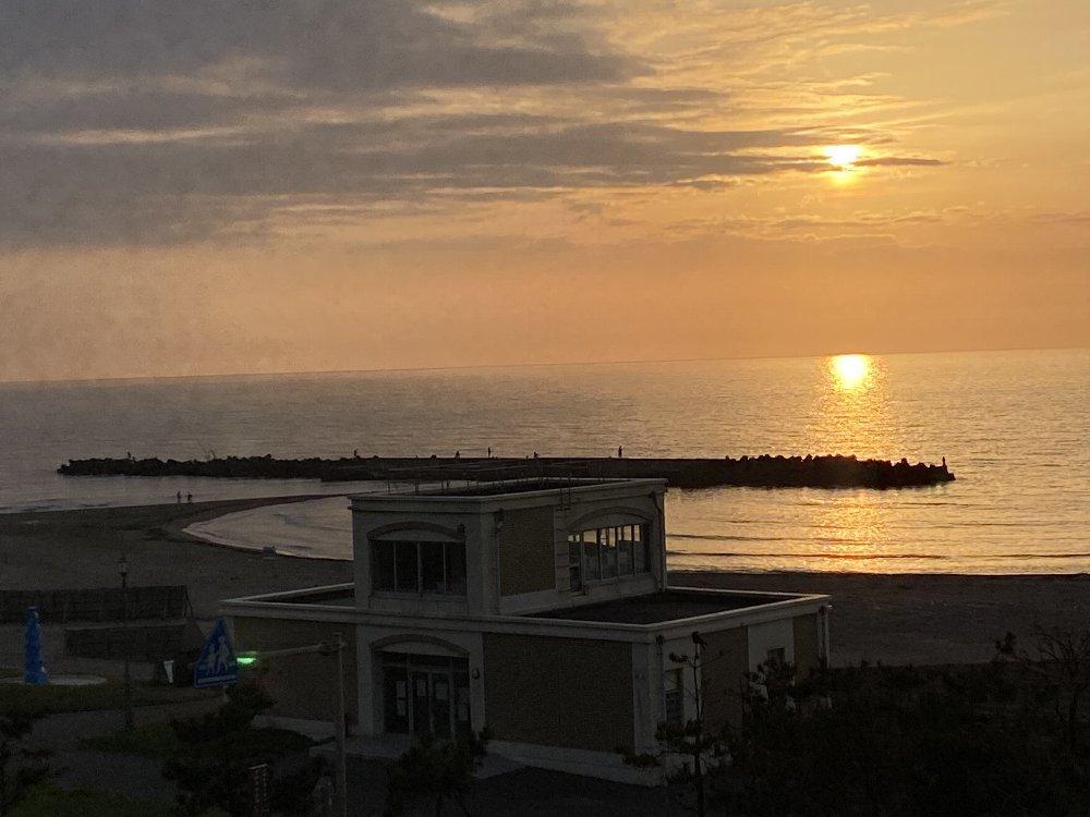 夕日と釣り人!_e0065084_19293361.jpg