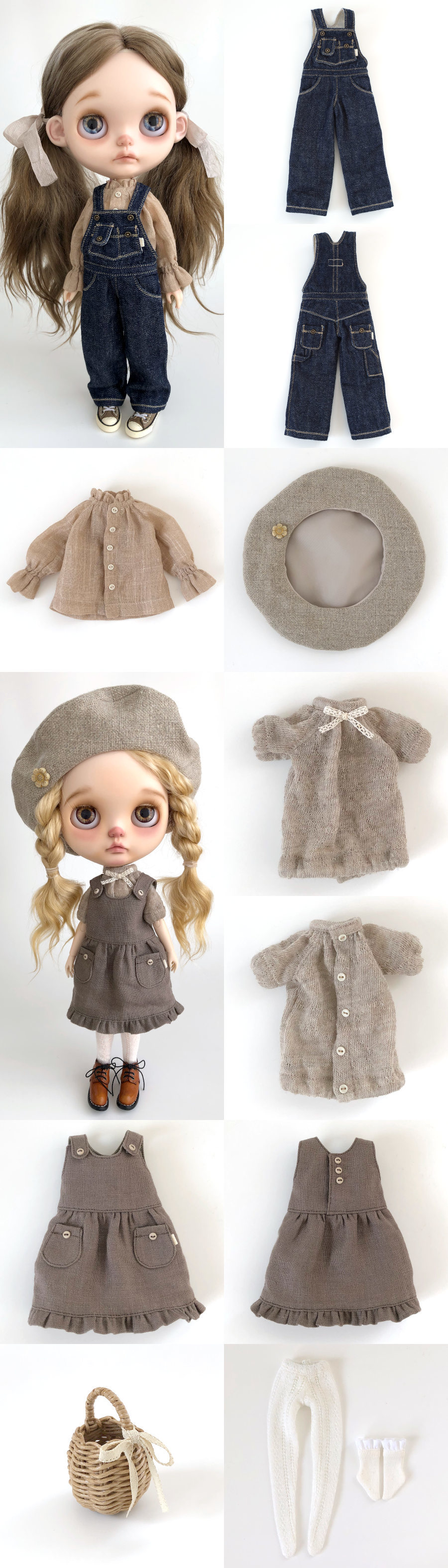 *lucalily * dolls clothes* Overall set*_d0217189_11391651.jpg